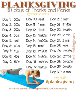 30 Days of Planksgiving