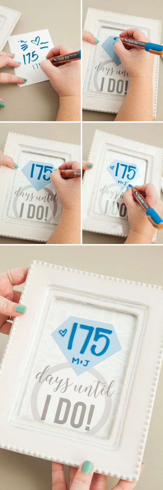 """Wedding Countdown Sign by """"Something Turquoise"""""""